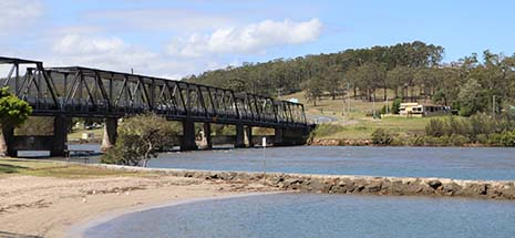 Image of estuary in Hunter region