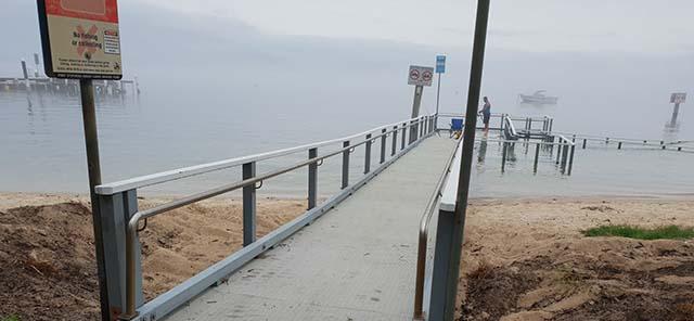 Little beach reserve wharf 2