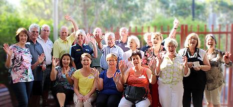 Happy group of volunteers