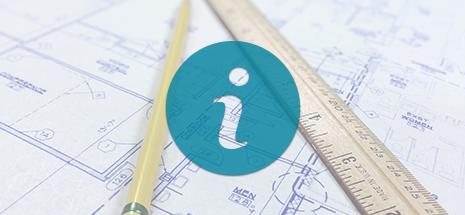 info icon over blueprints