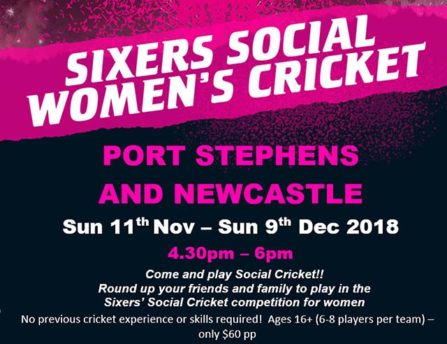 Sixers social womens cricket 1