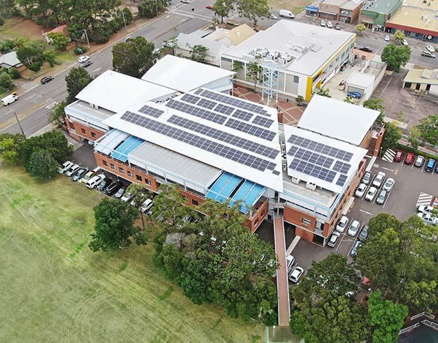 Solar panels at PSC