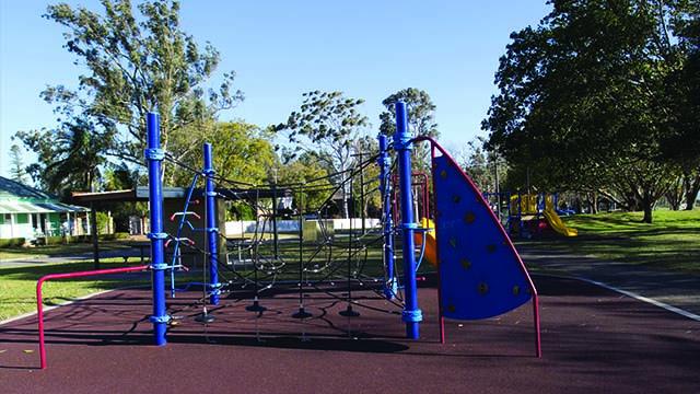 Image of Riverside Park play equipment