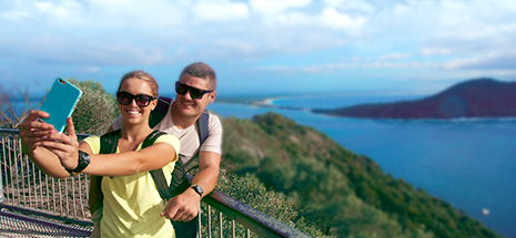 Tourists at Tomaree lookout