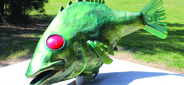 Image of Gerald the fish sculpture