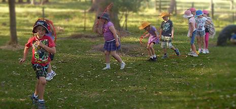 Children playing in feild