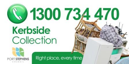 1300734470 for kerbside collection
