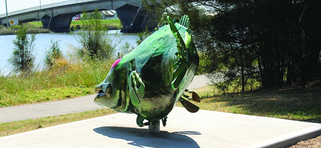 Image of Gerald the fish scupture