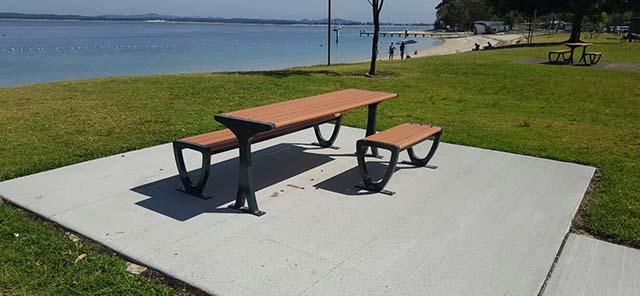 Little Beach Reserve table