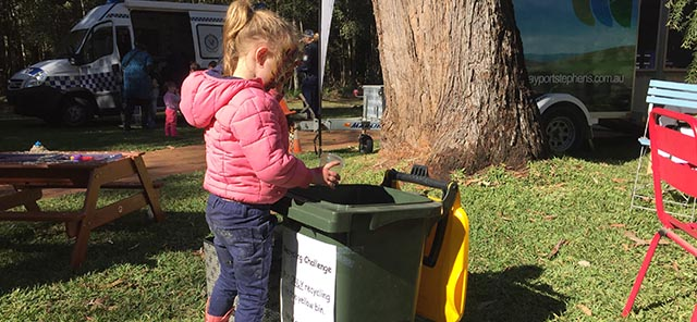 Waste education in Port Stephens