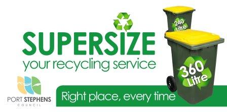 supersize your recycling