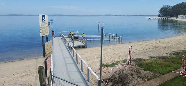 Little beach reserve wharf 1