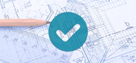 tick icon over blueprints