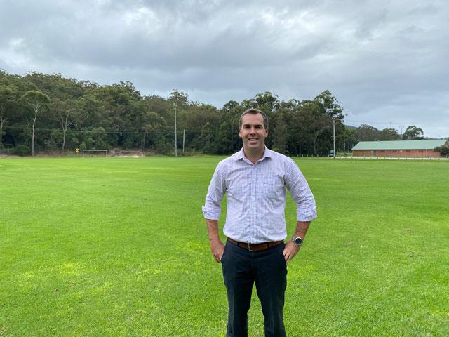 Port Stephens Mayor Ryan Palmer at Tomaree Sports Complex