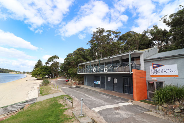 External view of Port Stephens Sailing and Aquatic Club