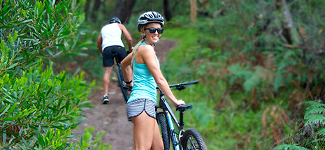 Cycling in Tomaree Reserve