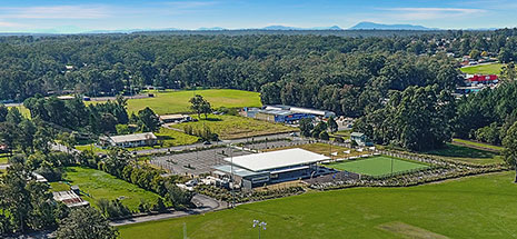 Aerial view of Medowie Sport and Community Facility
