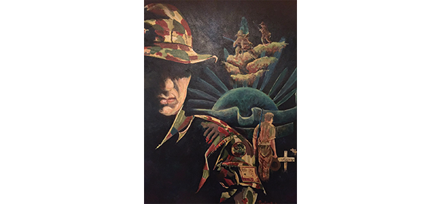 Painting of ANZAC fighters