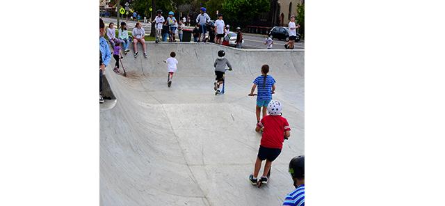 Image of boys skating at Boomerang Skate Park