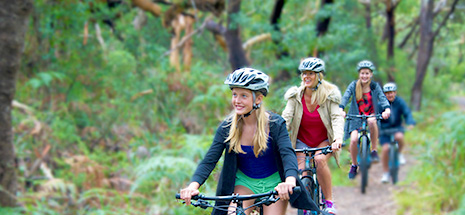 Bike riding throught Tomaree Reserve