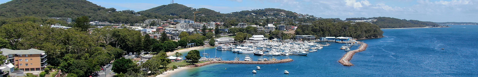 Nelson Bay aerial view