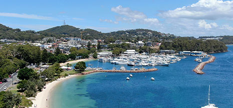 Aerial view of Nelson Bay