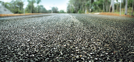 Closeup of road surface