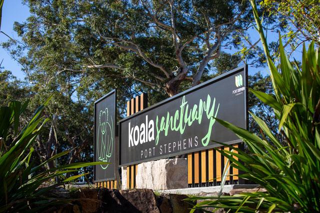 Port Stephens Koala Sanctuary main entrance