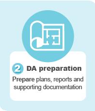 2. DA preparation — prepare plans, reports and supporting documentation