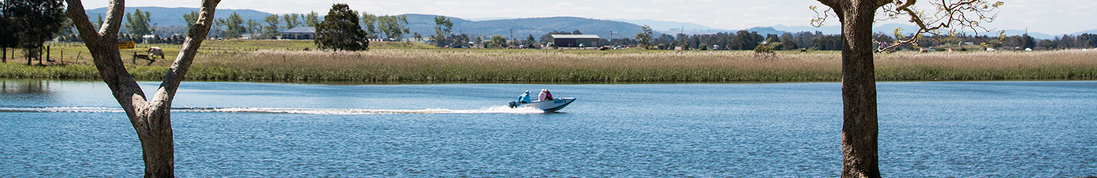 Image of a jet boat on river in Nelson Bay