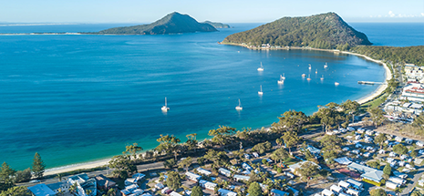 Aerial photograph of Shoal Bay